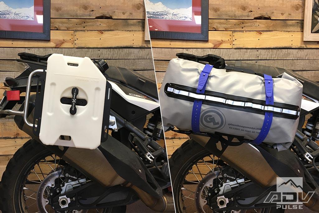 Giant Loop Pannier Mounts for Adventure Motorcycle equipment