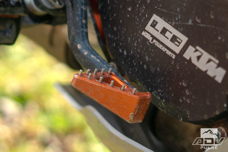 KTM 1090 Adventure Bike Build - brake pedal