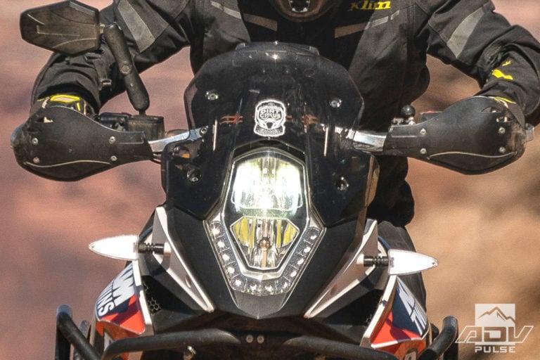 KTM 1090 Adventure Motorcycle Build - led headlight