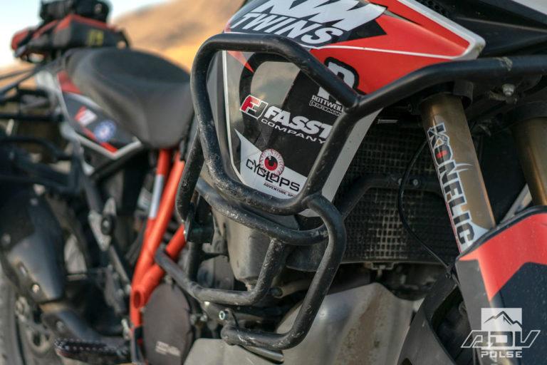 KTM 1090 Adventure Motorcycle Build - crashbars
