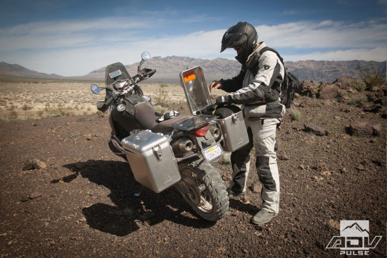 adventure motorcycle hard luggage