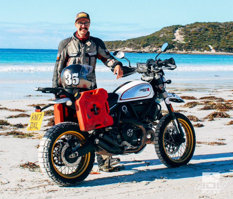 Henry Crew youngest person to ride the world solo on a motorcycle