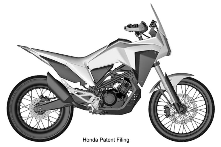 Honda concept bike Adventure Motorcycle Patent