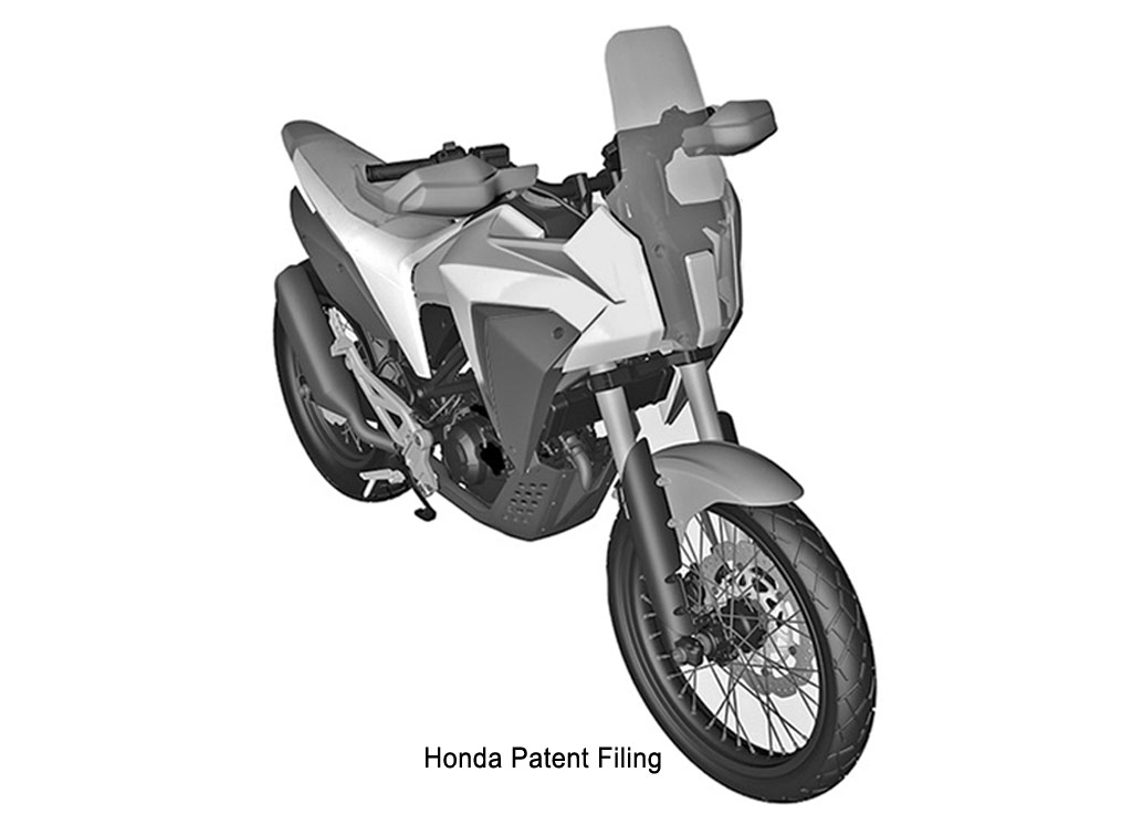 Honda 125cc adventure bike Patent