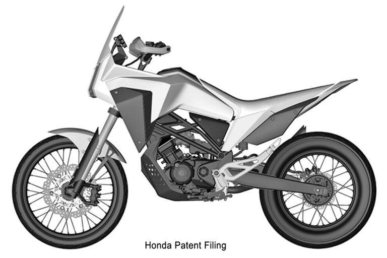 Honda concept Adventure Motorcycle Patent