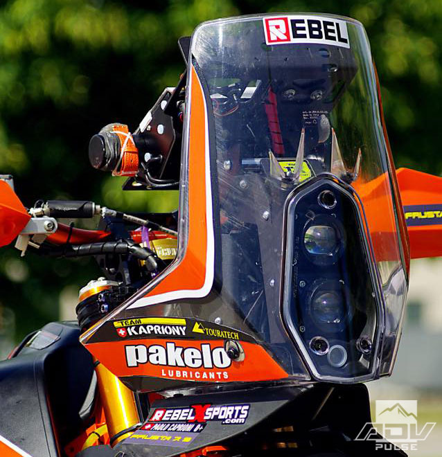 KTM 450 Rally clear windscreen