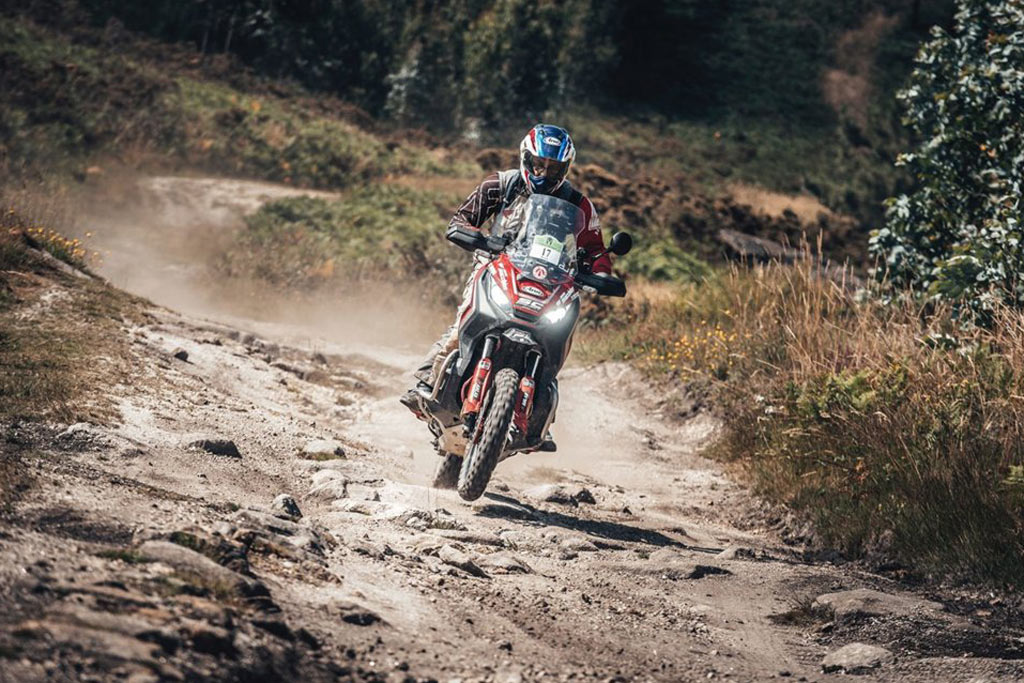 Honda X-ADV Scooter beats dual sport and adventure bikes at Gibraltar race.
