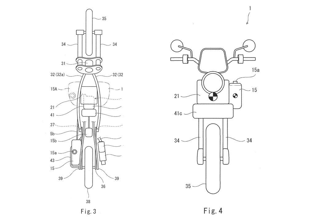 Kawasaki files patent for hybrid motorcycle