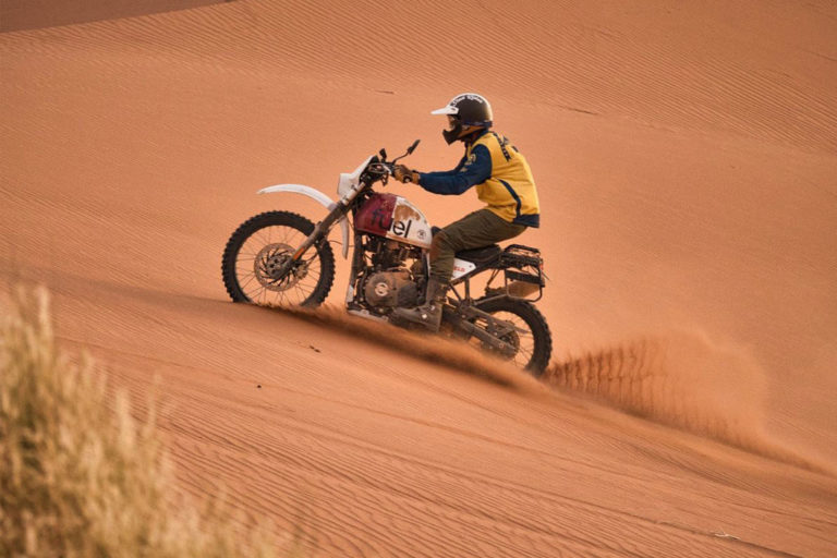 Royal Enfield Paris-Dakar-Inspired Bike Build at Scram Africa Rally