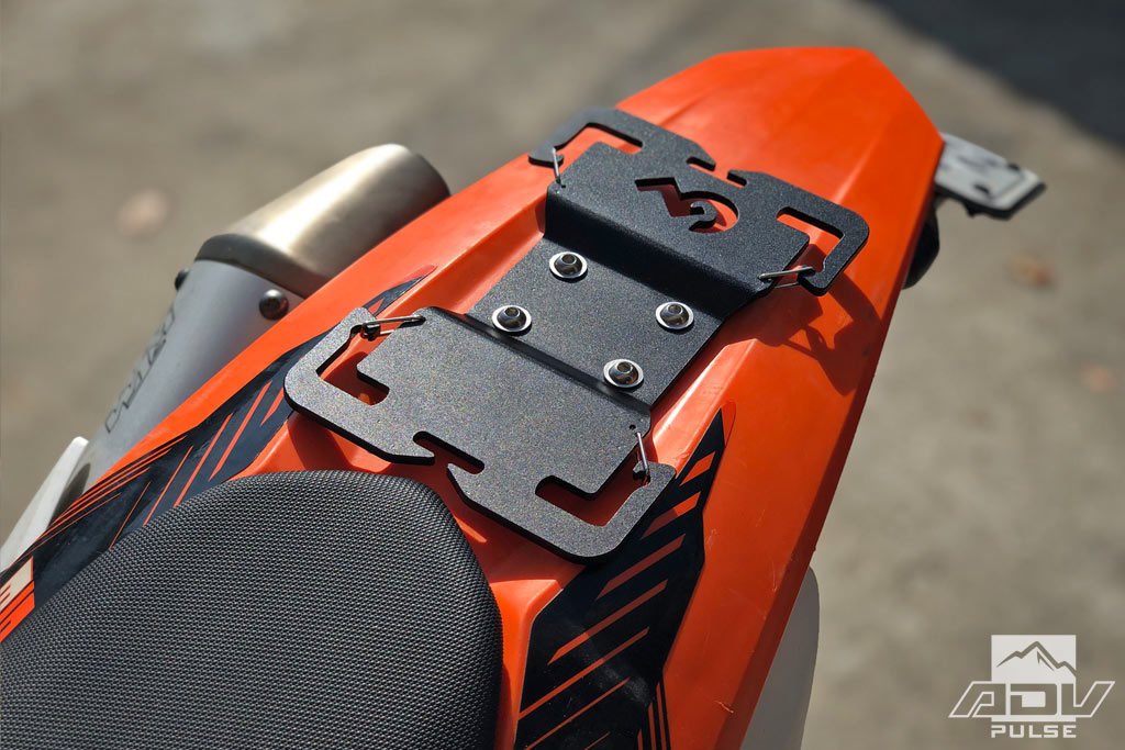 Giant Loop Tail Rack on KTM 500  EXC