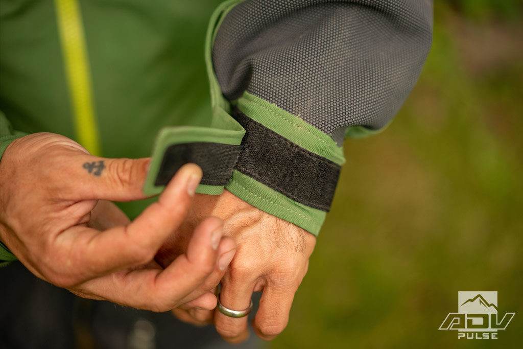 Velcro cuff on the Mosko Moto Basilisk Jacket.