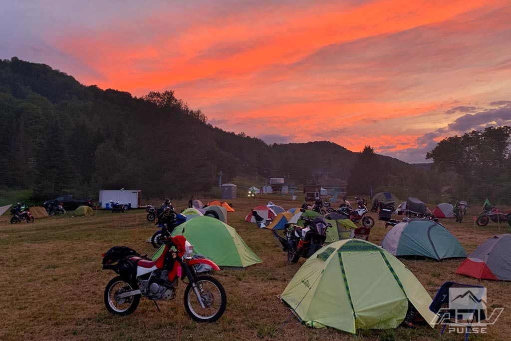 Touratech DirtDaze Rally camping