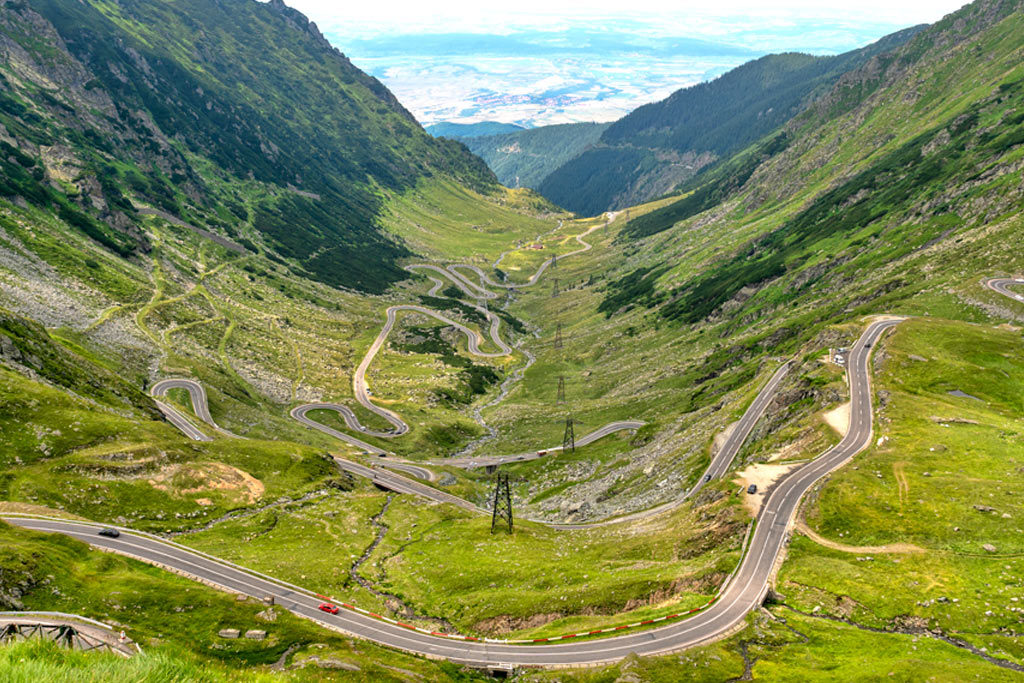 Riding Romania transfagarasan road