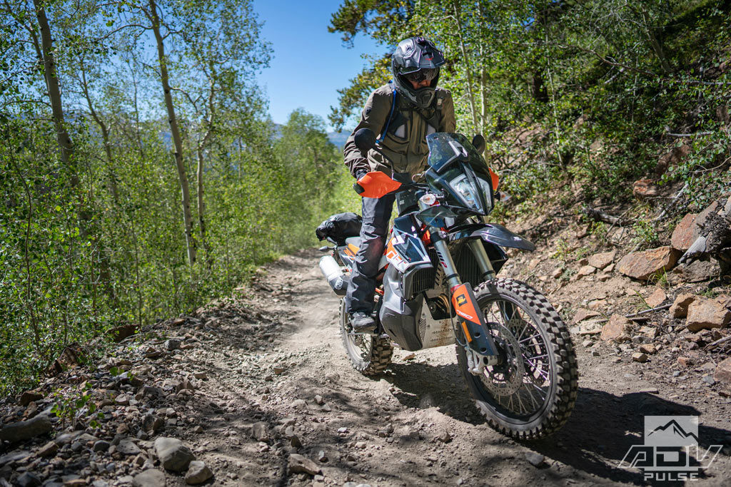 Riding the trails of Breckenridge at the KTM Adventure Rally.