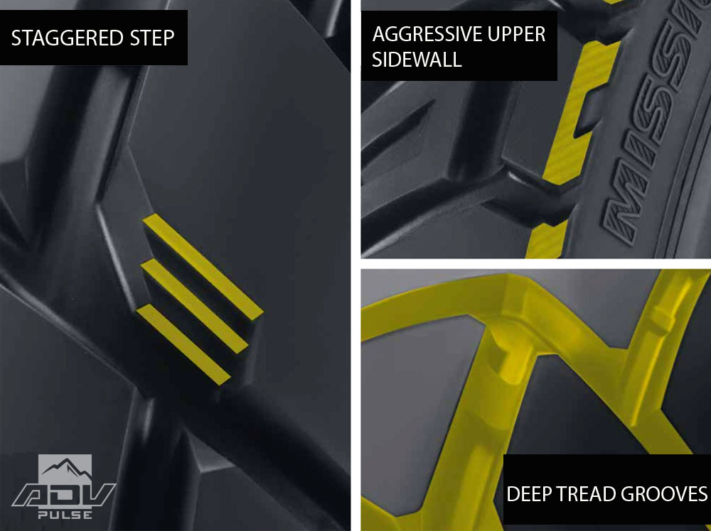 Dunlop motorcycle tire technology.