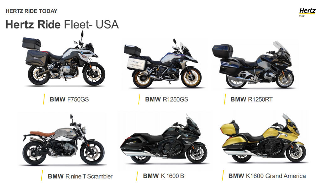 Hertz Ride motorcycle fleet in US