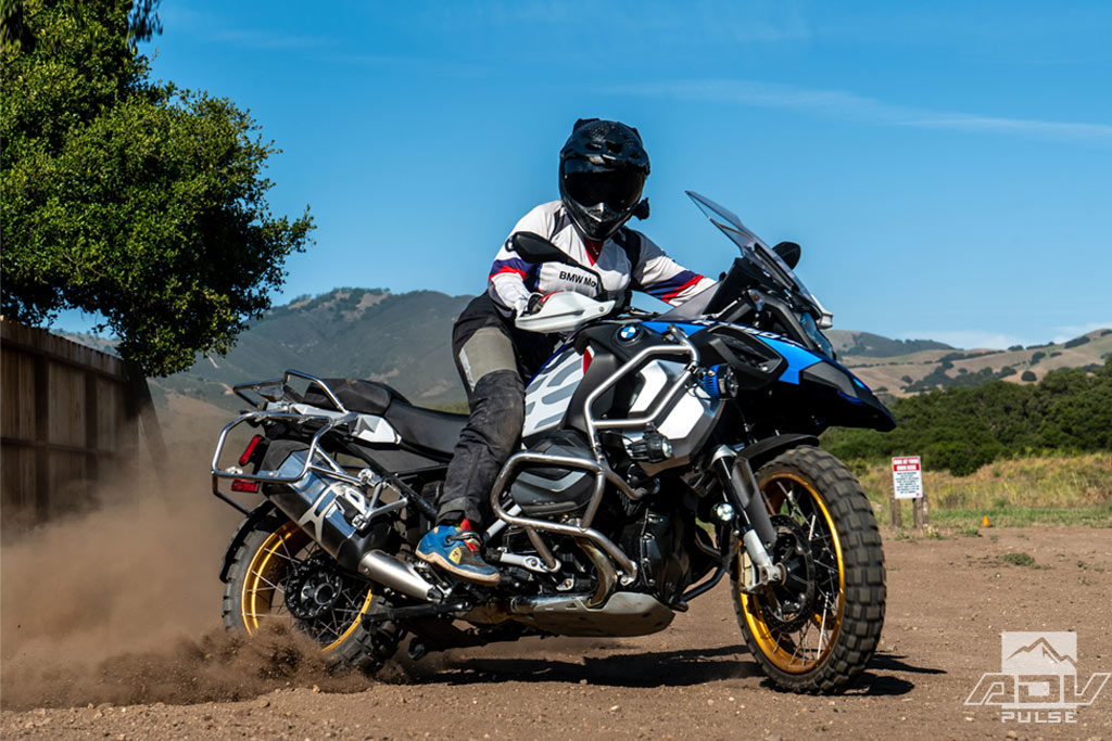 Rider Jocelin Snow Taming the Big BMW R1250GS Adventure