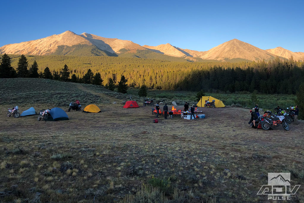 A night of camping during the KTM Adventure Rally 2019