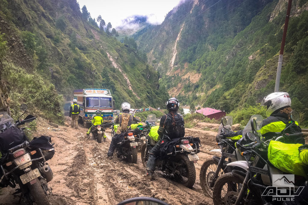 Traffic jam riding to Everest