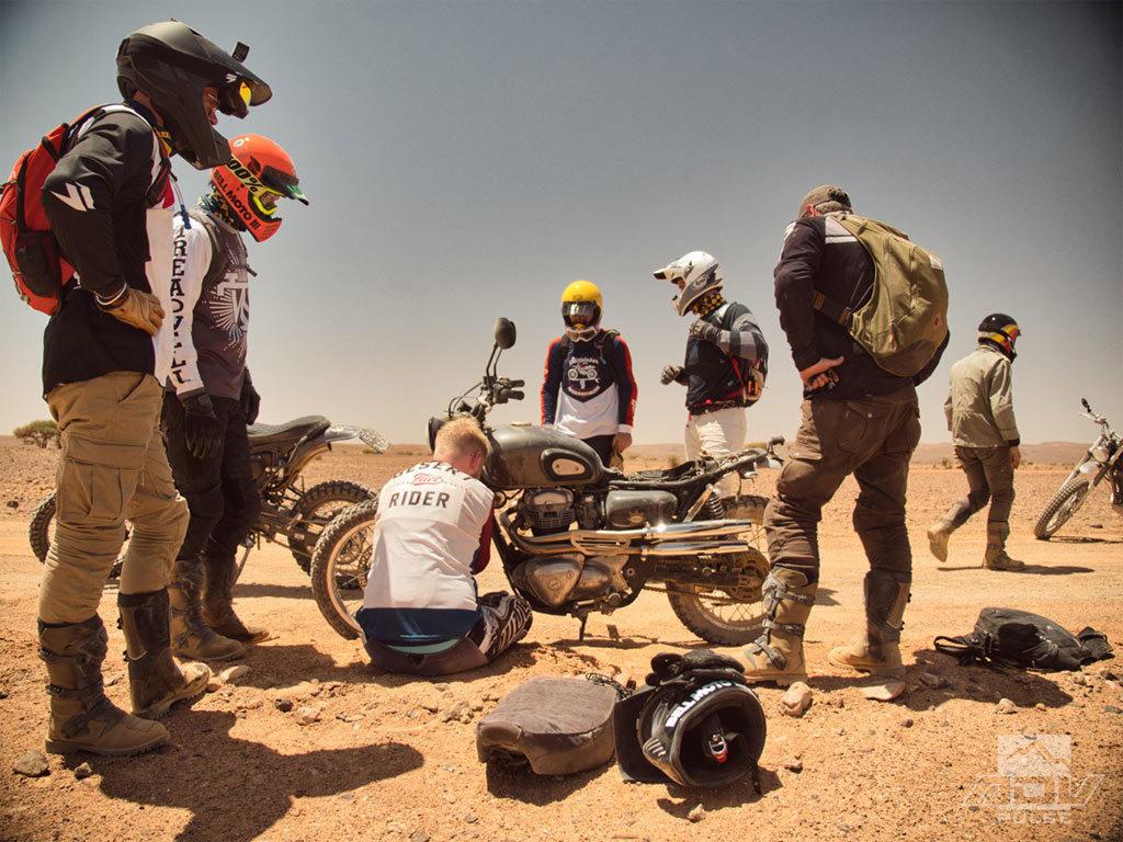 Fixing bike Scram Africa