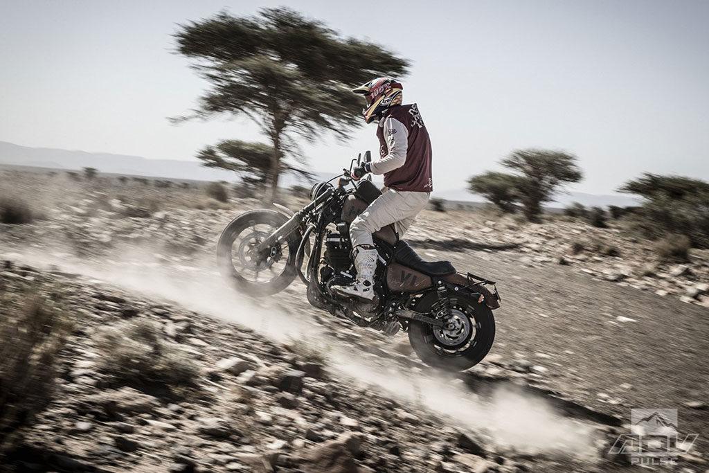 Scram Africa custom Harley