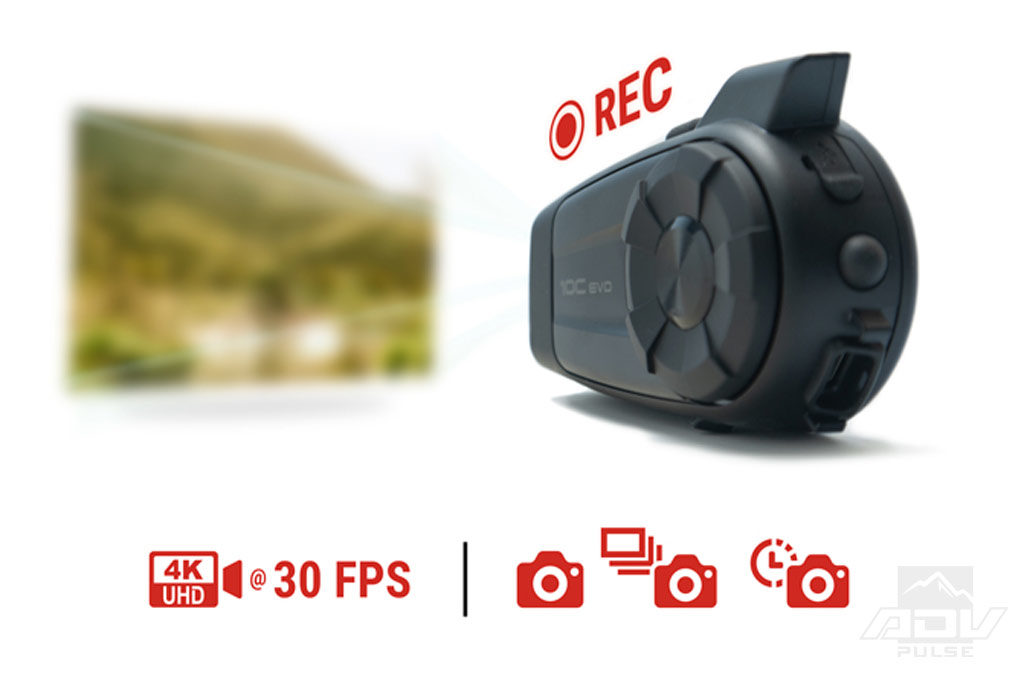 Sena 10C EVO 4k Camera and Bluetooth Communication System