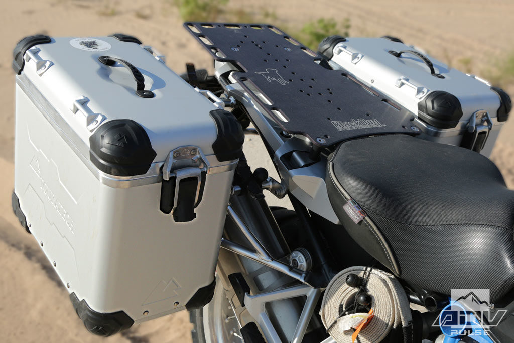 Touratech's new pannier system.