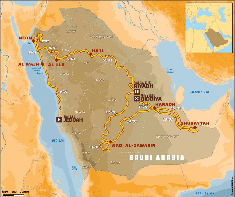 2020 Dakar Rally routes