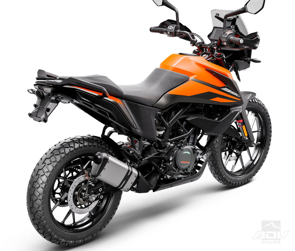 Rear view of ktm 390 adventure