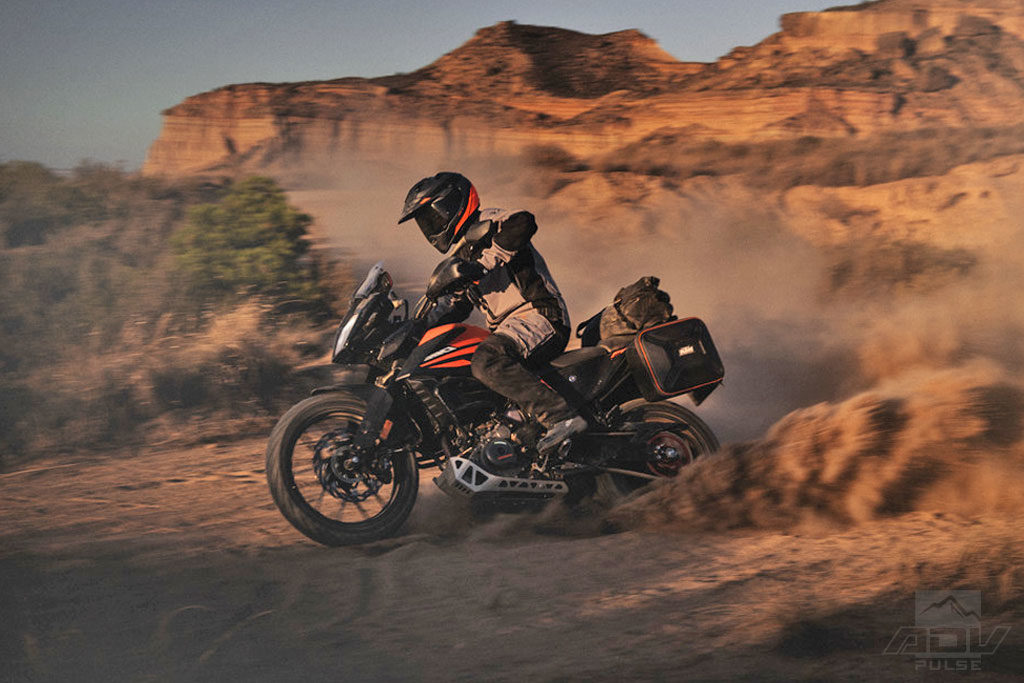 KTM 390 Adventure in the dirt