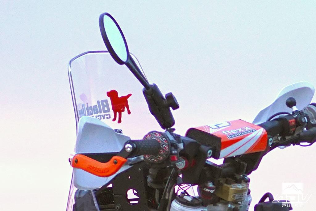 KTM 500 EXC breakaway mirrors