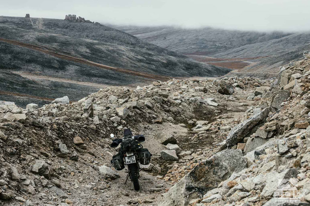 Rugged terrain of Russia's extreme north east