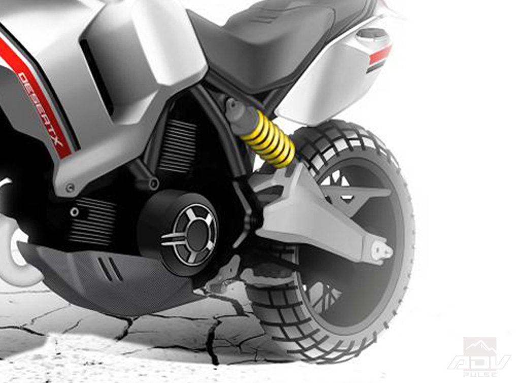 Ducati Desert X Concept Adventure bike rear shock