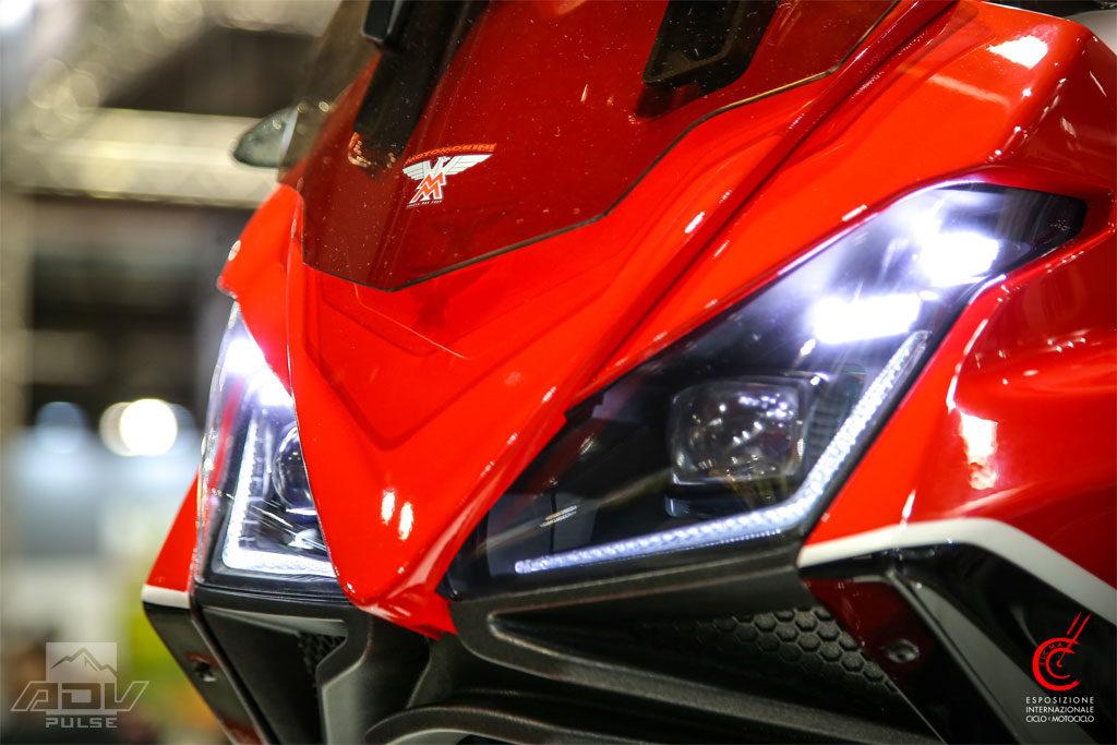 Moto Morini adventure bike headlights