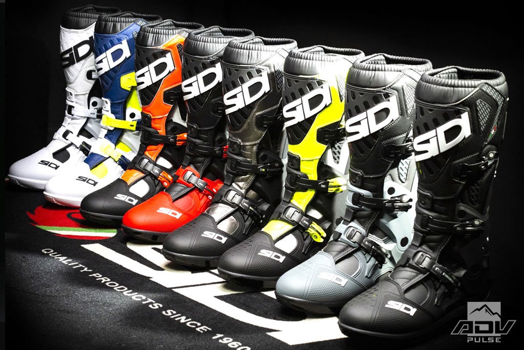 Sidi Atojo SR motocross boots in different colors.