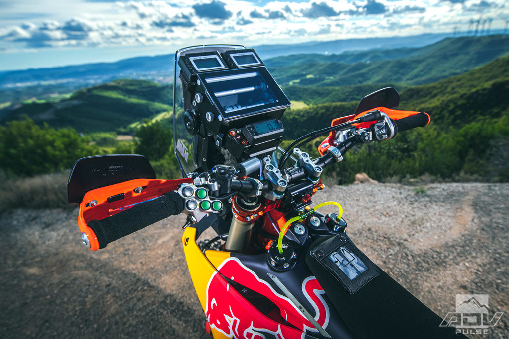 2020 Factory KTM 450 rally bike navigation tower