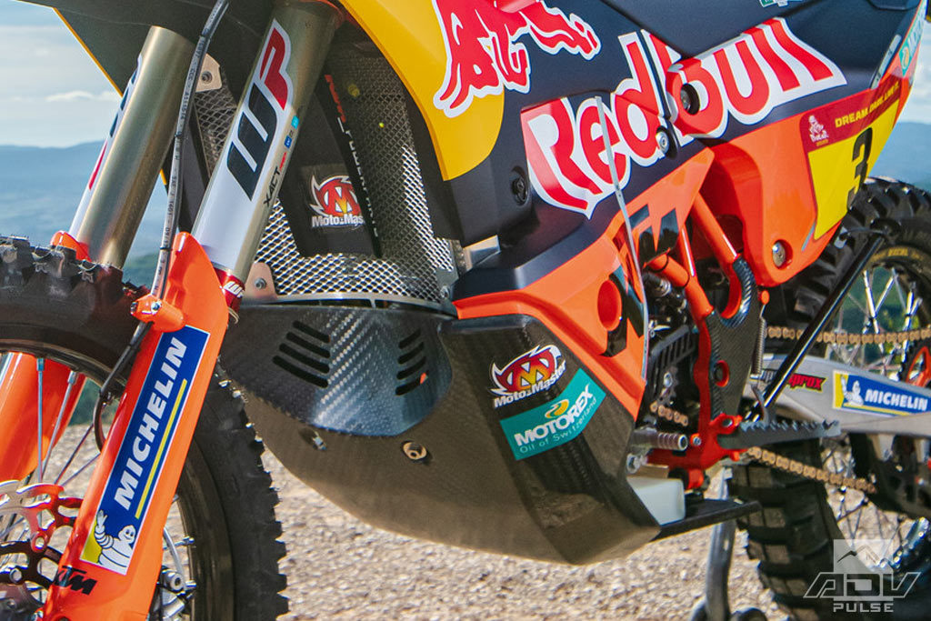 2020 Factory KTM 450 rally bike bash plate