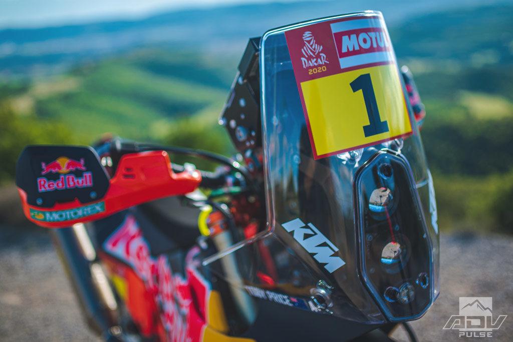 KTM 450 rally bike front