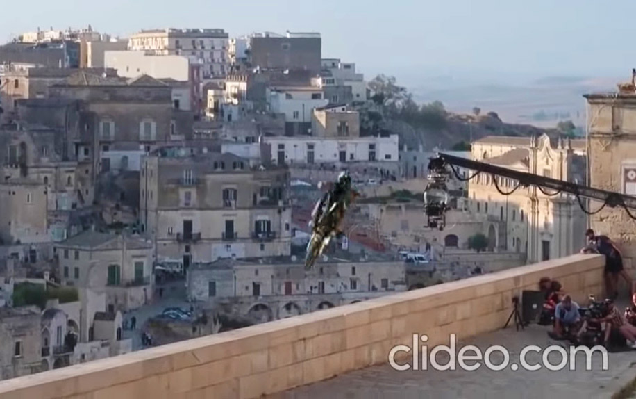 James Bond No Time To Die heroic bike jump