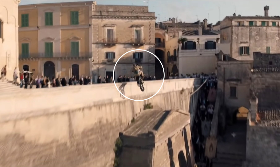 New James Bond Movie Motorcycle Jump