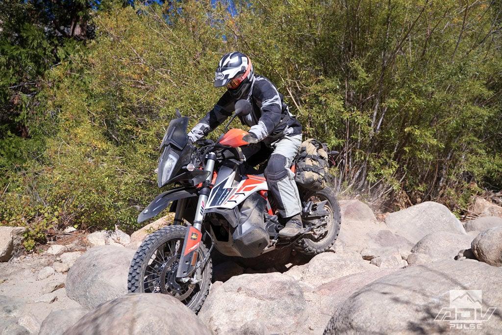 KTM 790 Adventure R in the rocks.