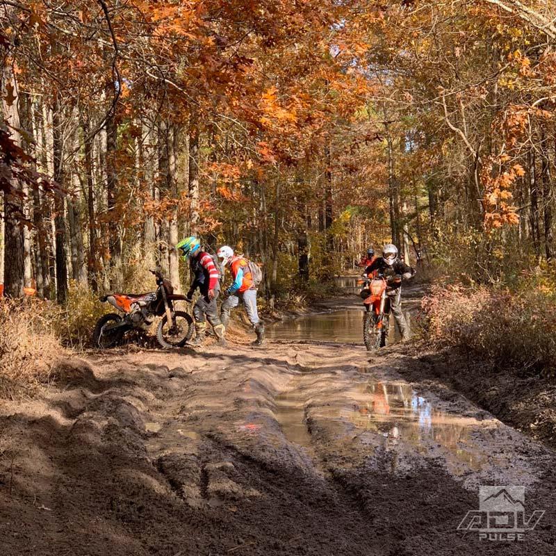 Muddy trails at the Hammer Run
