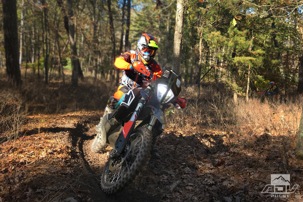 Mike Lafferty ripping on the 790 Adventure R