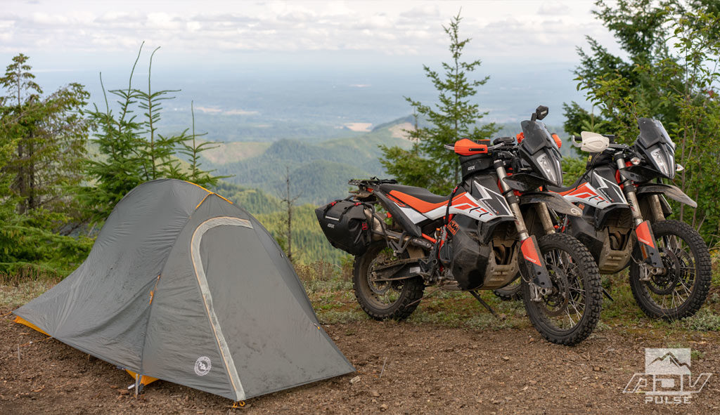 Idyllic Motorcycle Camping destination.