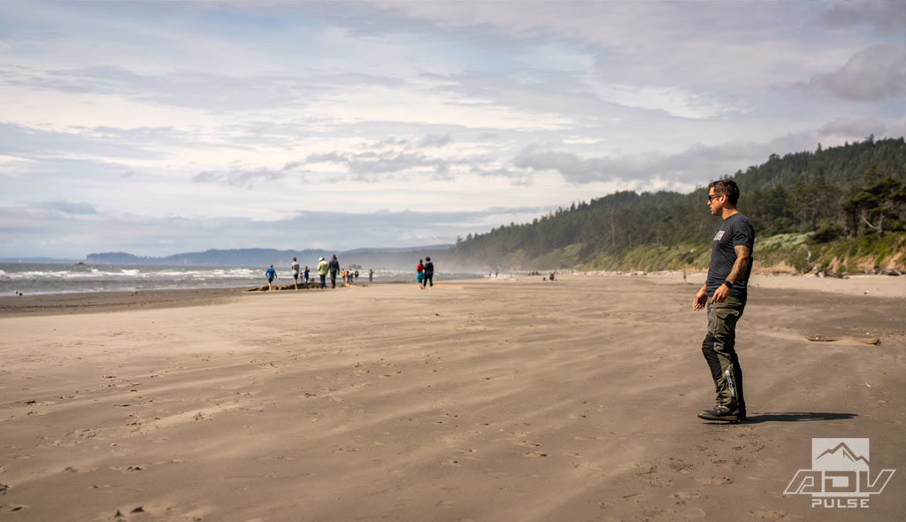 Exploring the beaches in the Olympic Peninsula.