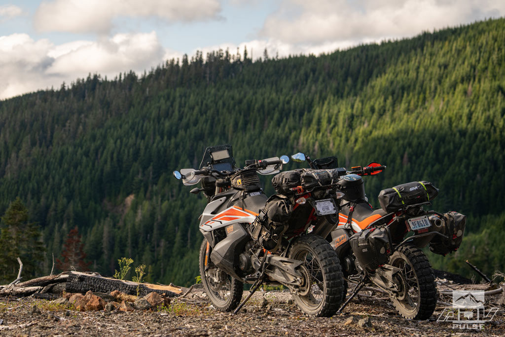Riding Adventure Bikes in Washington State.