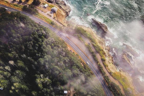 Mendocino coastline in Northern California