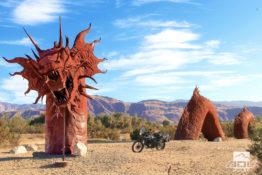 Strange Desert Art in Southern California.