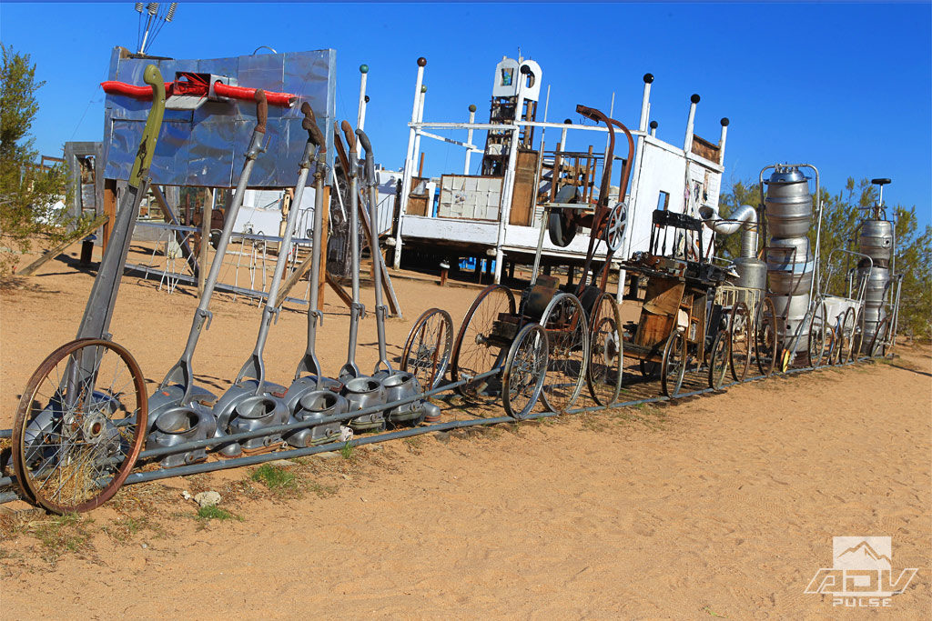 Interesting art installation at the Noah Purifoy Outdoor Museum.