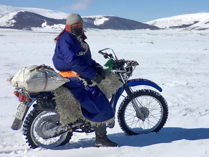 Park ranger uses motorcycle year round to protect endangered wildlife